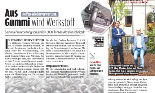 Carbon Recovery in der Auto Bild Österreich