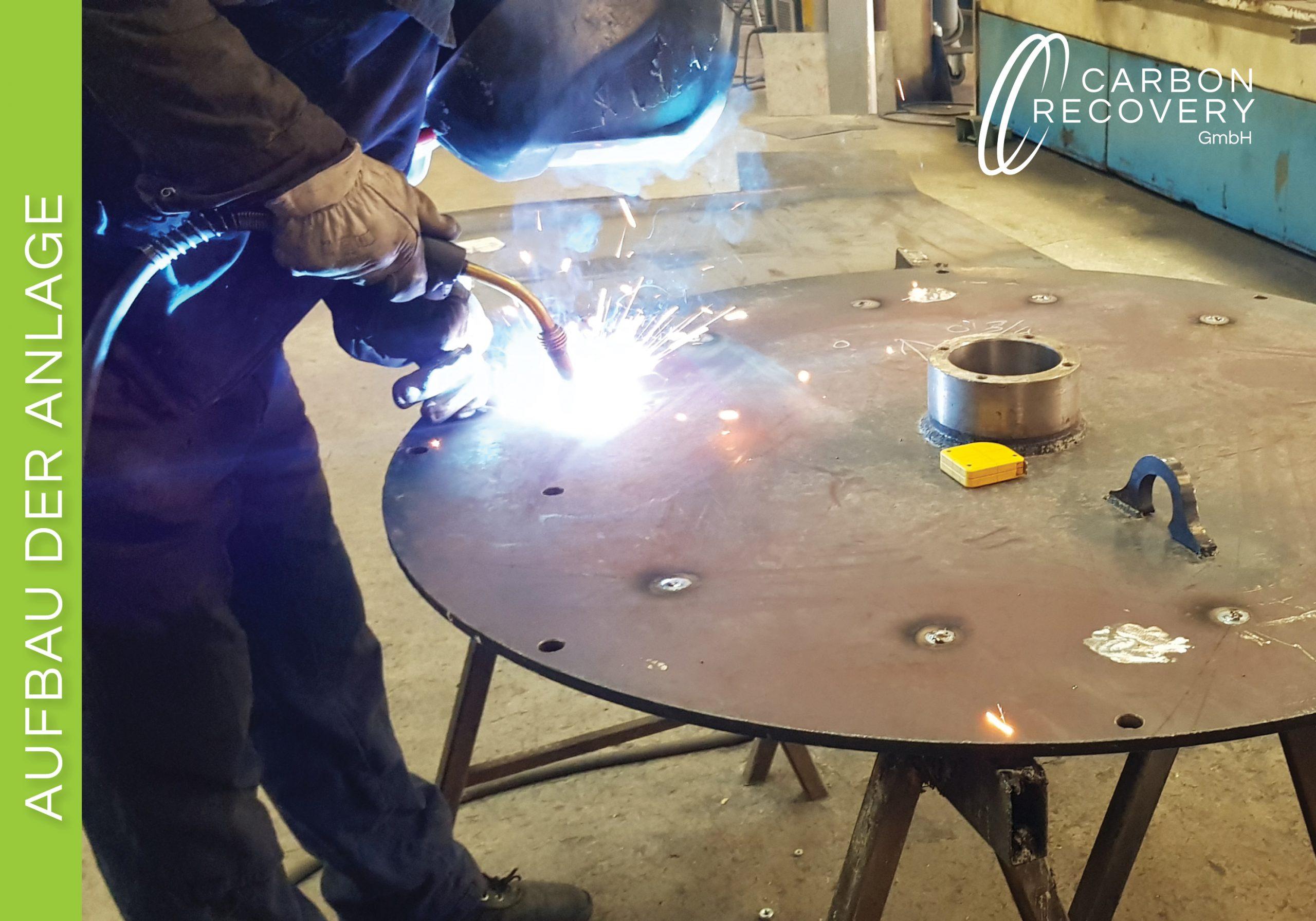 Aufbau Pyrolysekammer Carbon Recovery